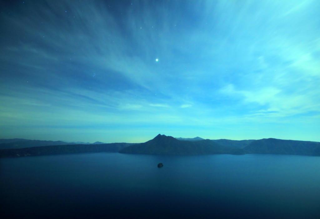 摩周湖と木星